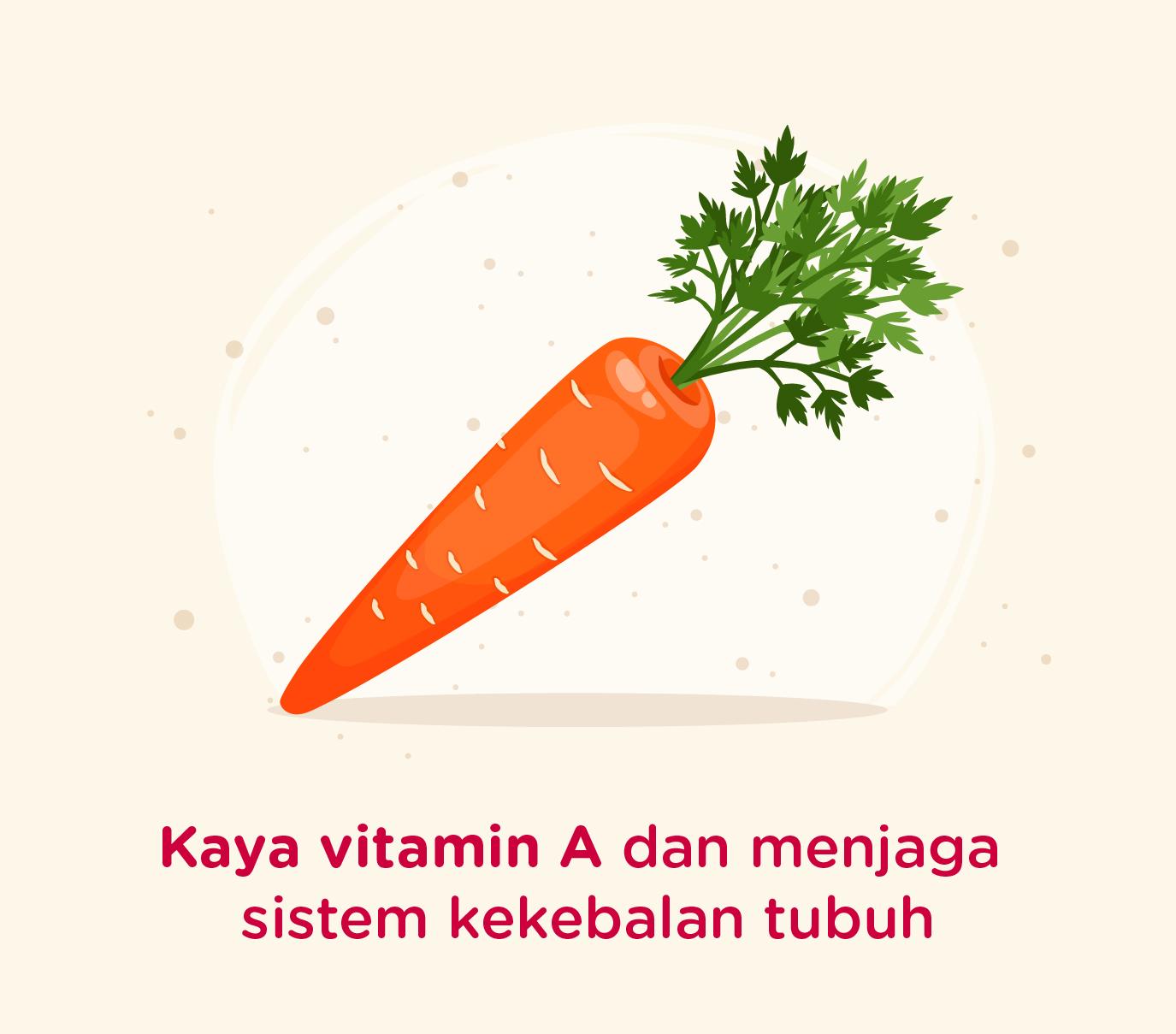 Wortel mengandung vitamin A dan kaya akan serat untuk pengidap diabetes