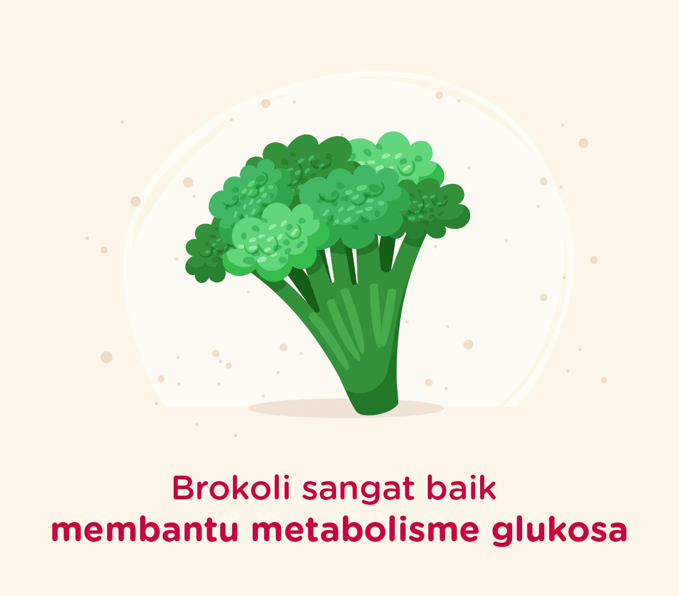 Brokoli baik untuk membantu metabolisme gula