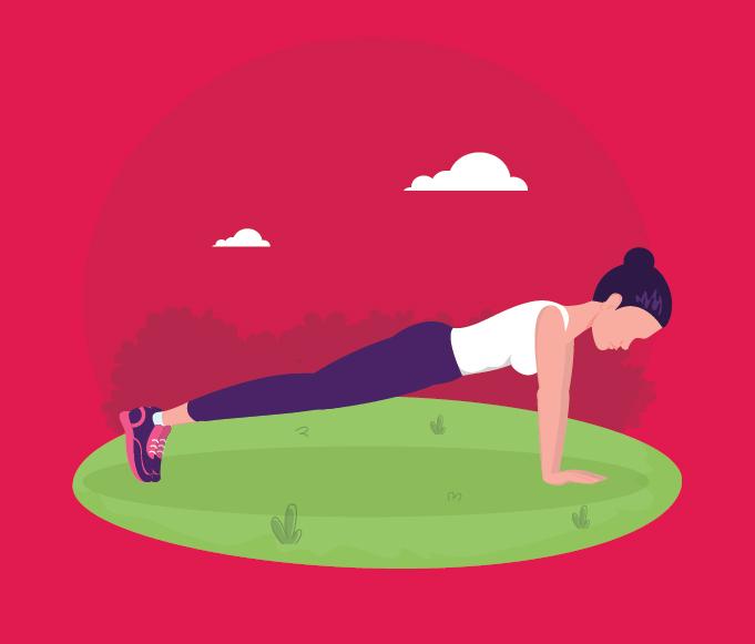 gerakan push up dorong badan ke atas