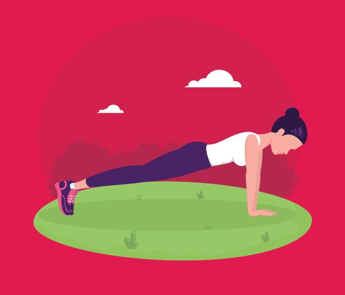 gerakan push up dorong tubuh